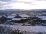 四国中央市に雪が積もる