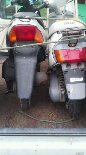 四国中央市周辺で壊れたり不用になったスクーターやカブを無料回収
