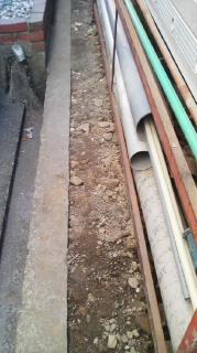 四国中央市で公共下水道切り替え工事  配管編
